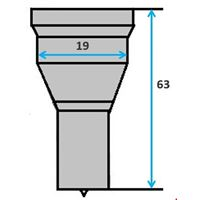 Ronde pons nr. 9000 Ø 4-19 mm