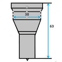 Ronde pons nr. 9004 Ø 31-38 mm