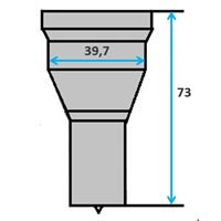 Ronde pons nr. 9006 Ø 5-38 mm