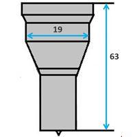 Ronde pons nr. 2 (GN8-19) Ø 4-19 mm