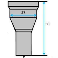 Ronde pons nr. 4 (GN5-27) Ø 8-27 mm