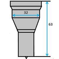 Ronde pons nr. 5 (GN8-31)  Ø 17,5-32 mm