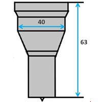 Ronde pons nr. PG6 (GN8-40) Ø 32,5-40,0 mm